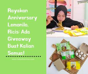 Rayakan Anniversary Lemonilo, Ricis: Ada Giveaway Buat Kalian Semua!